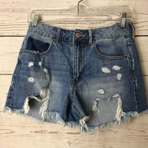 Forever 21 Hi-Rise Distressed Denim Shorts